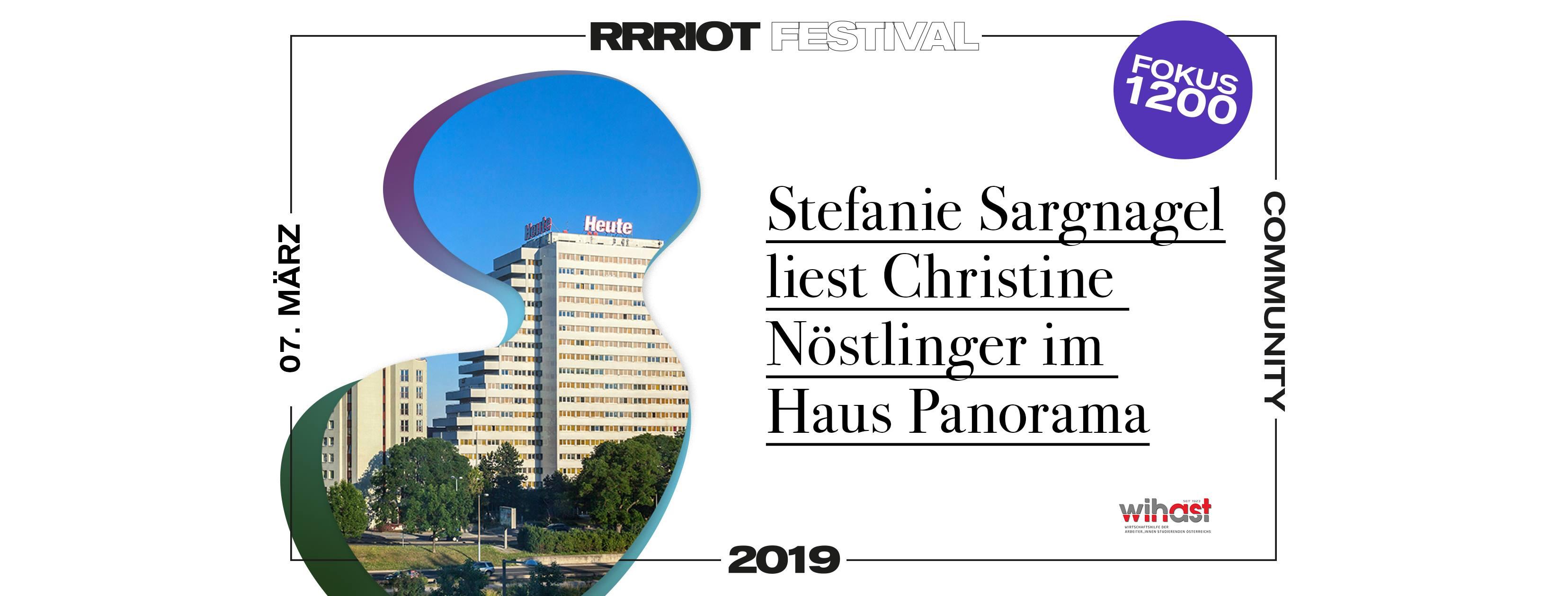 Rrriot Festival 2019 | Stefanie Sargnagel liest Christine Nöstlinger - 1200