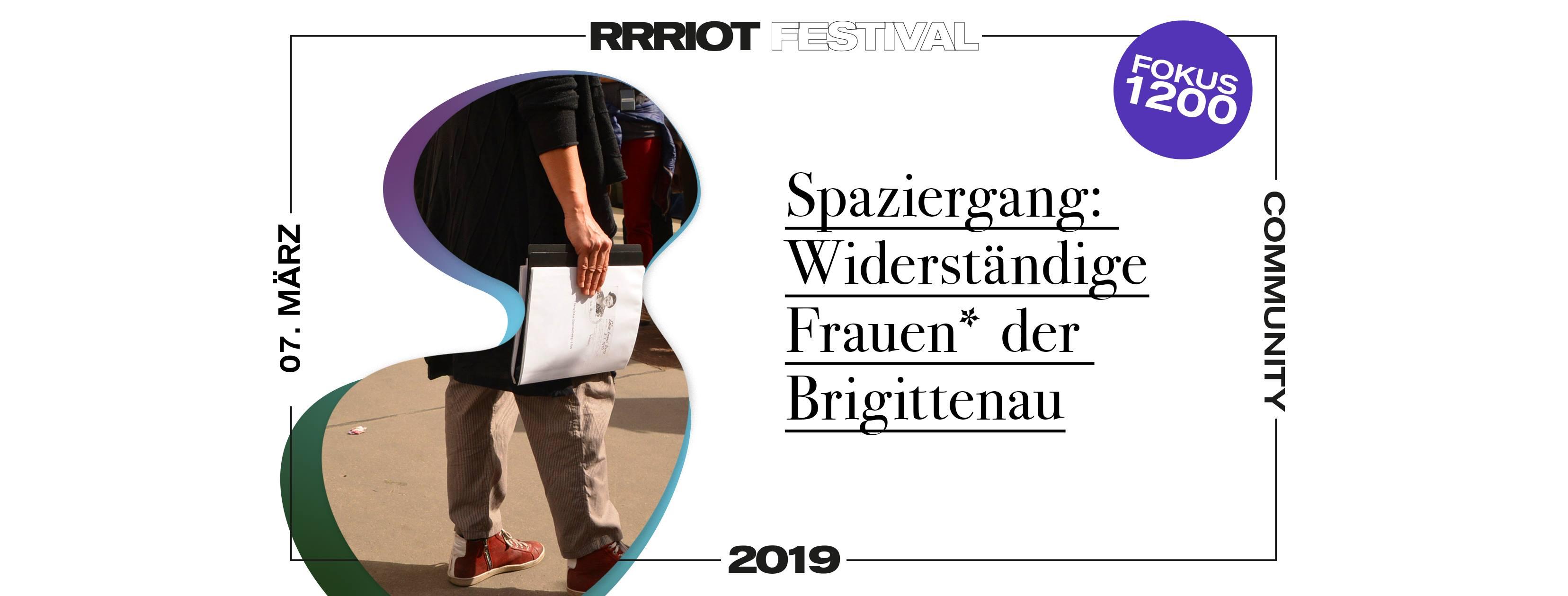 Rrriot Festival 2019 | Spaziergang: Widerständige Frauen in der Brigittenau