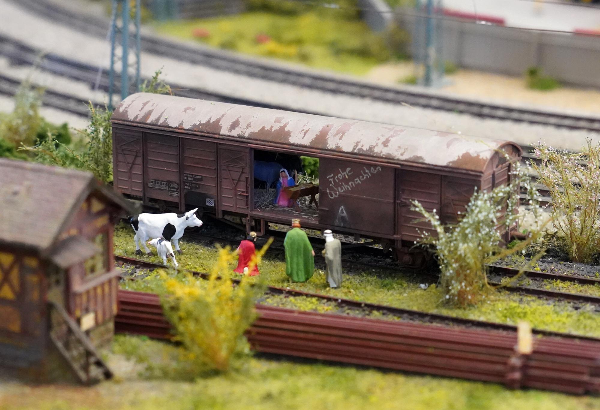 Modellbahn im Advent